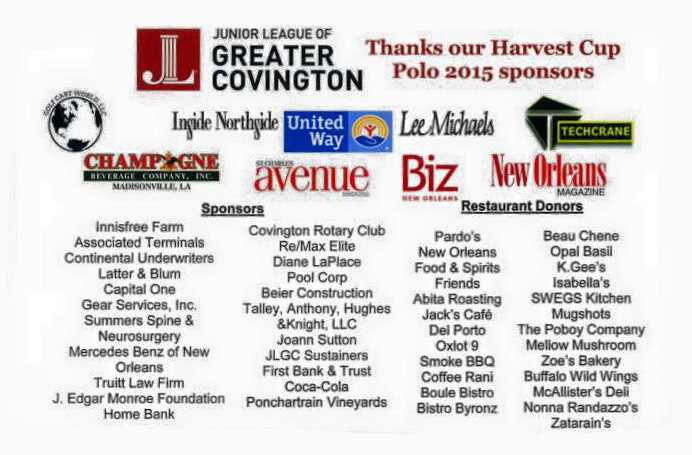 Talley Anthony Sponsored The Junior League Of Covington's 2015 Harvest Cup Polo Match